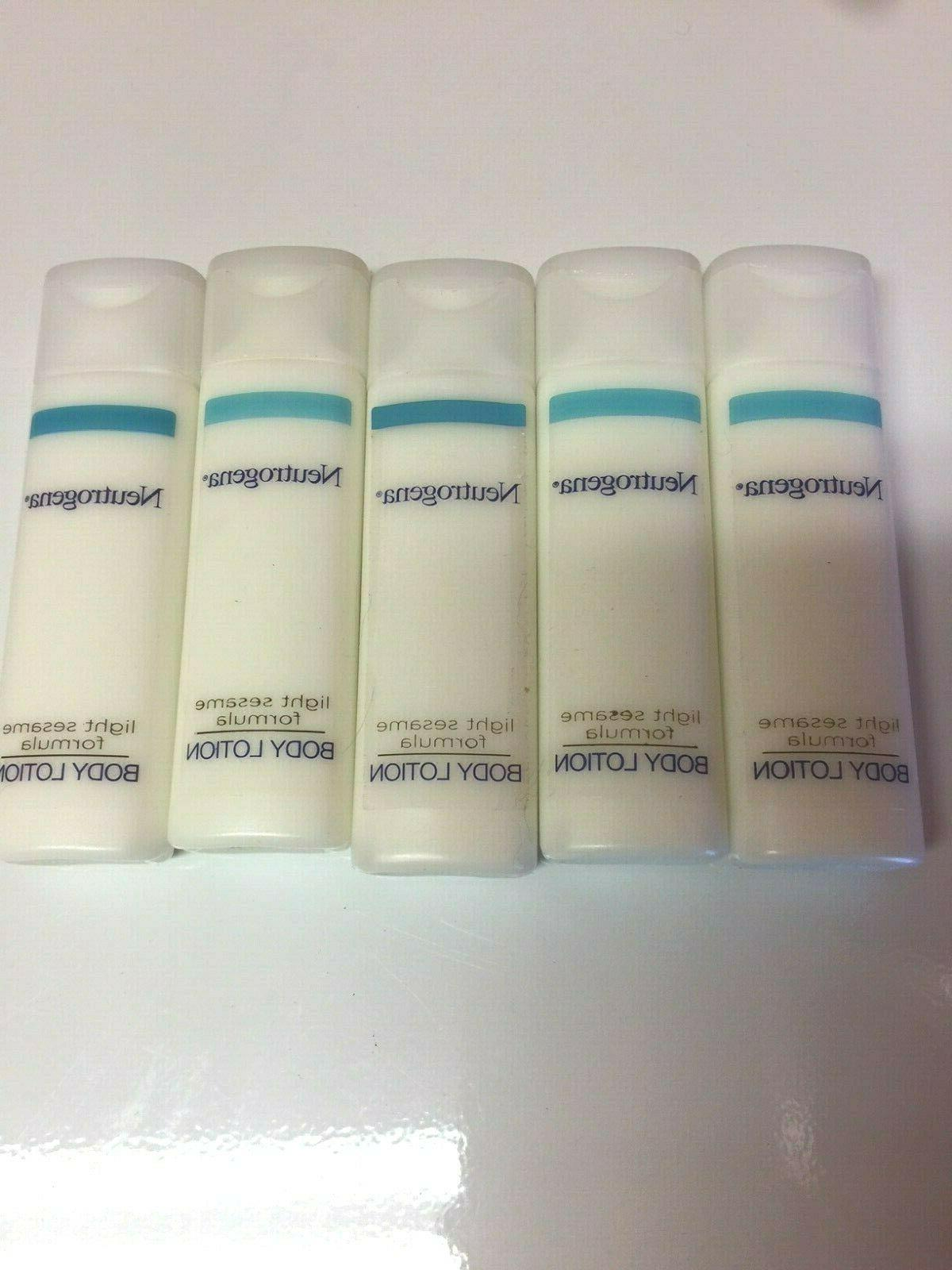 light sesame body lotion set of 5