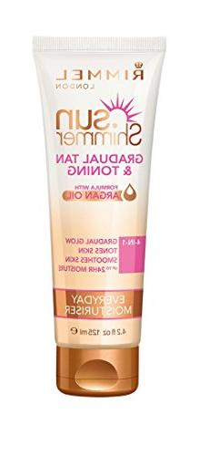 Rimmel London Sun Shimmer Gradual Tan And Tone Lotion 125ml