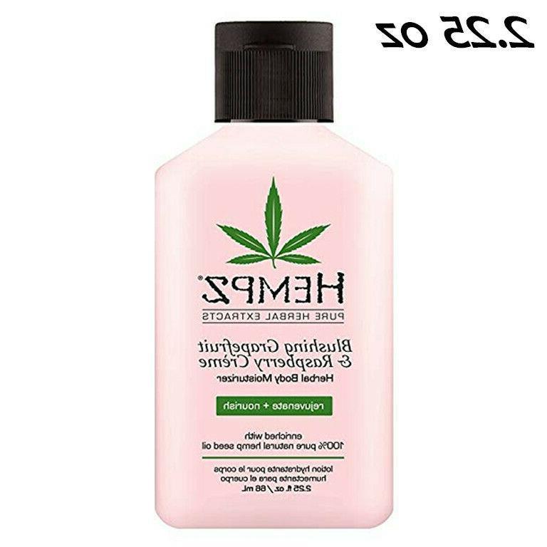 lotion herbal body moisturizer with hemp seed