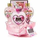 VALENTINE'S DAY LOVE Home Spa Gift Basket - Red Rose Fragran