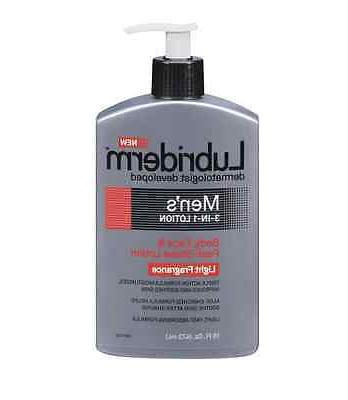 Lubriderm Men's 3-in-1 Body, Face & Post-Shave Lotion, Light