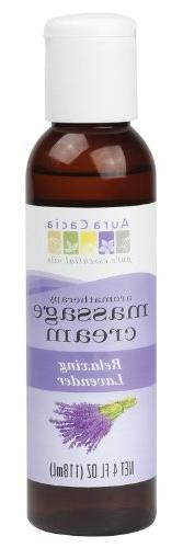Aura Cacia Massage Cream, Relaxing Lavender, 4 Fluid Ounce