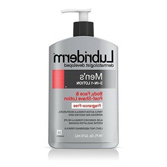 Lubriderm Men's 3-in-1 Fragrance-Free Lotion, 16 fl. oz. Men