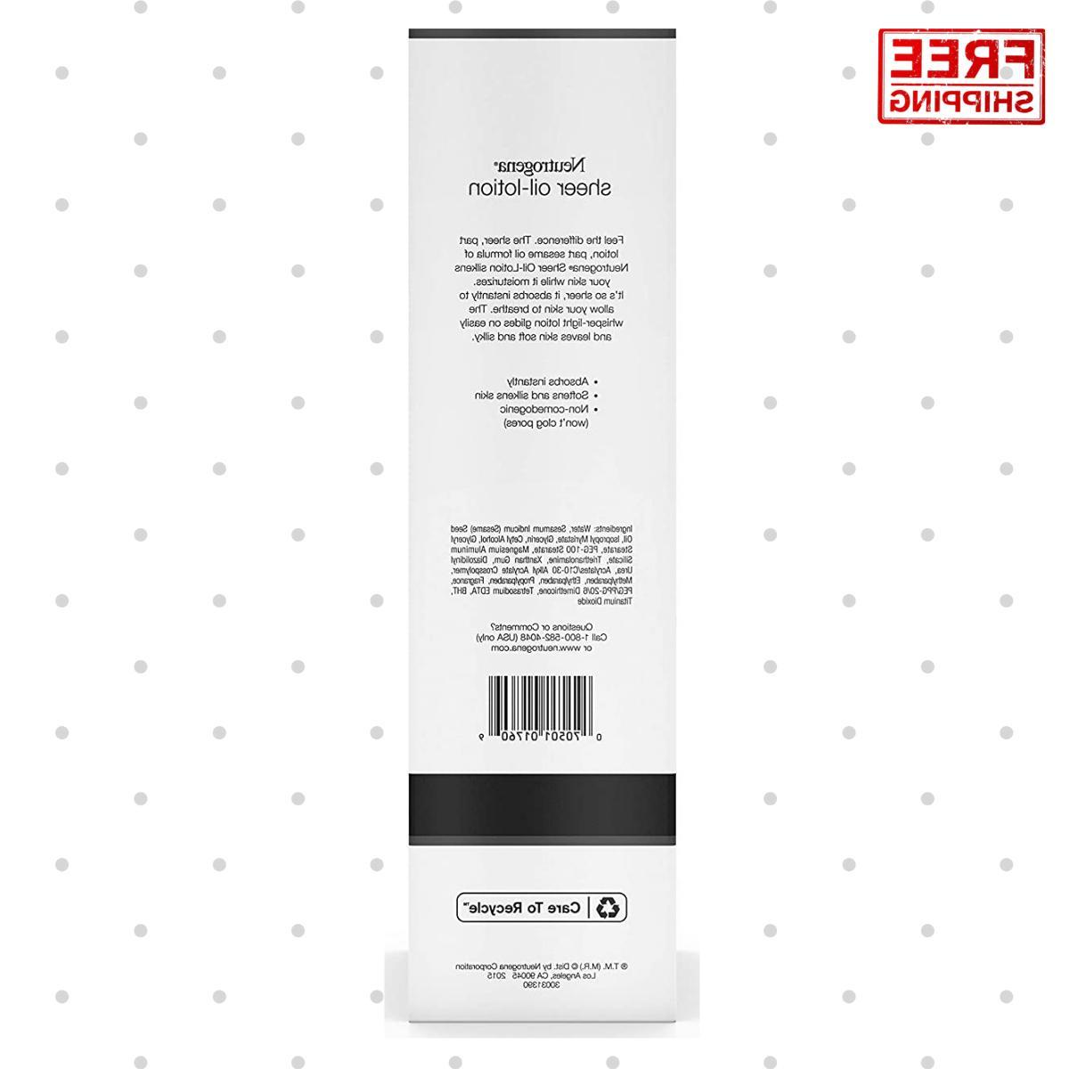 Neutrogena Sheer Oil Lotion Light Formula Whisper