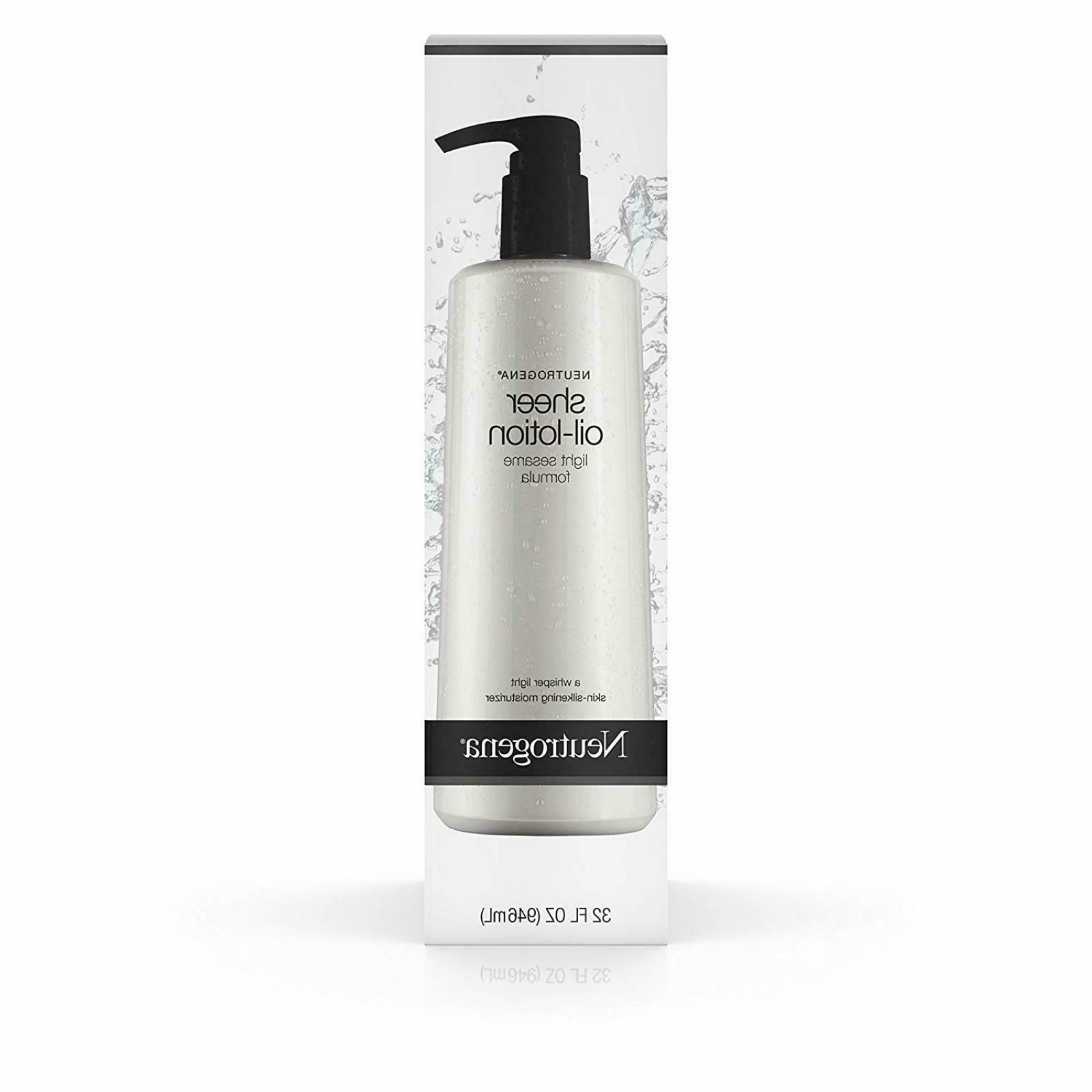 moisturizing sheer body oil lotion lightweight fast