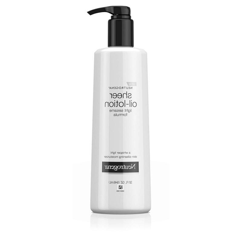 moisturizing sheer body oil lotion lightweight