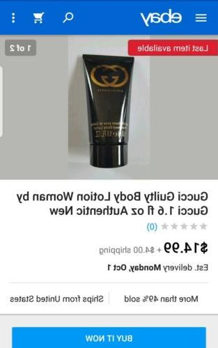 2 $19 Gucci guilty Perfumed Body Lotion 1.6 ship's free