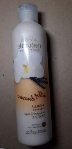 new AVON Naturals Senses Body Lotion 8.4 oz - silky vanilla