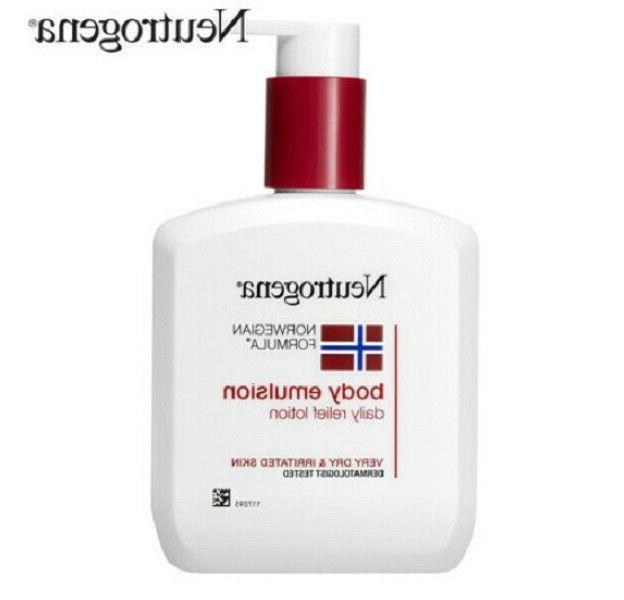 new norwegian formula body emulsion relief lotion
