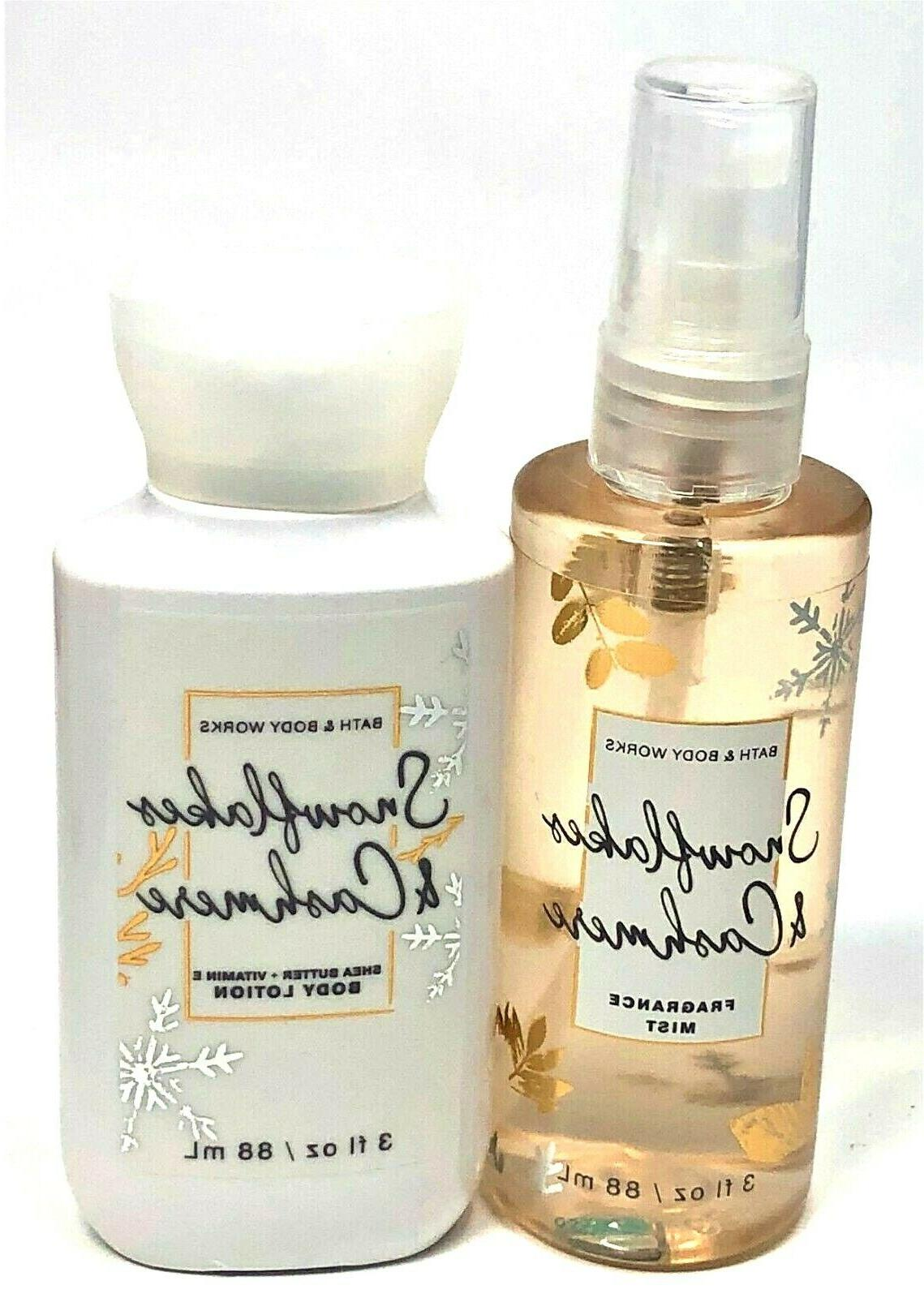 new snowflakes and cashmere travel body lotion