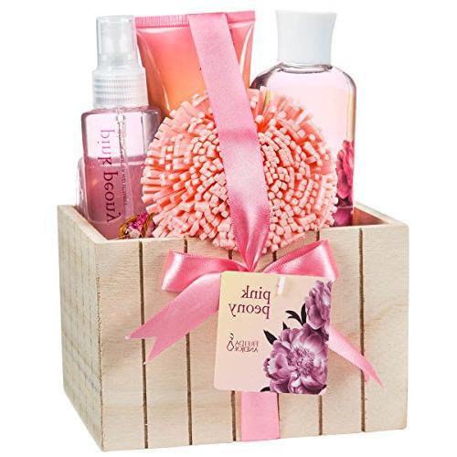 pink peony spa bath gift
