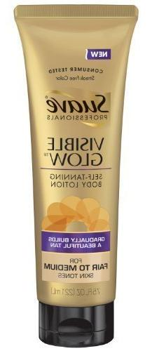 Suave Professionals Visible Glow Self-Tanning Body Lotion -