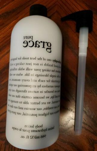 pure grace body lotion 32 oz new