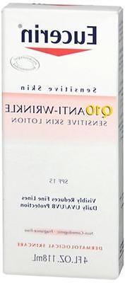Eucerin Q10 Anti-Wrinkle Sensitive Skin Lotion SPF 15 4 oz