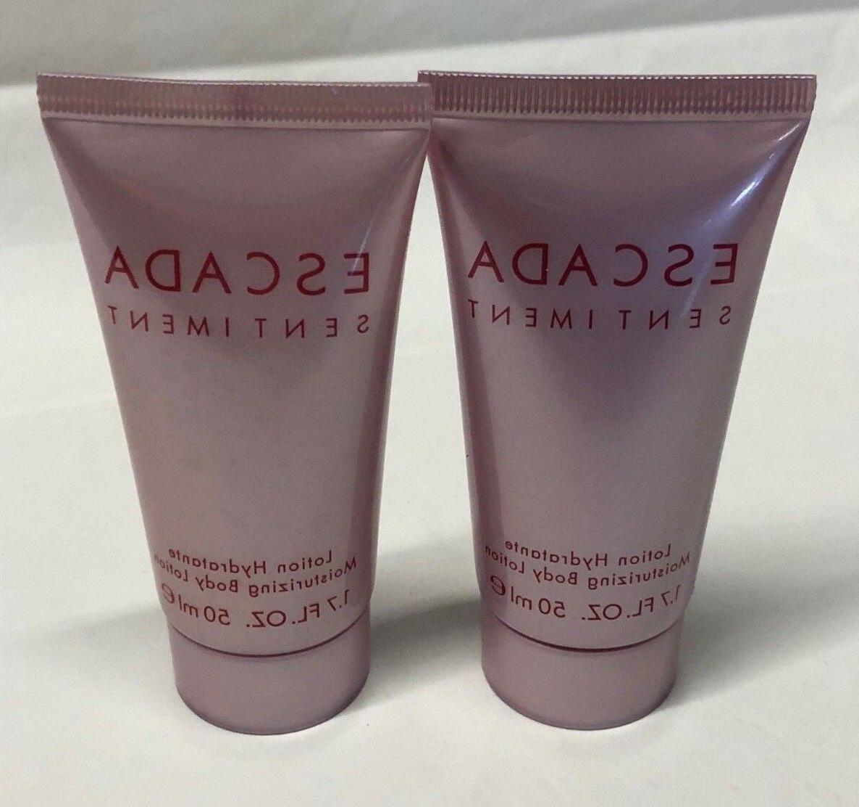 sentiment body lotion 2x50ml 1 7oz new