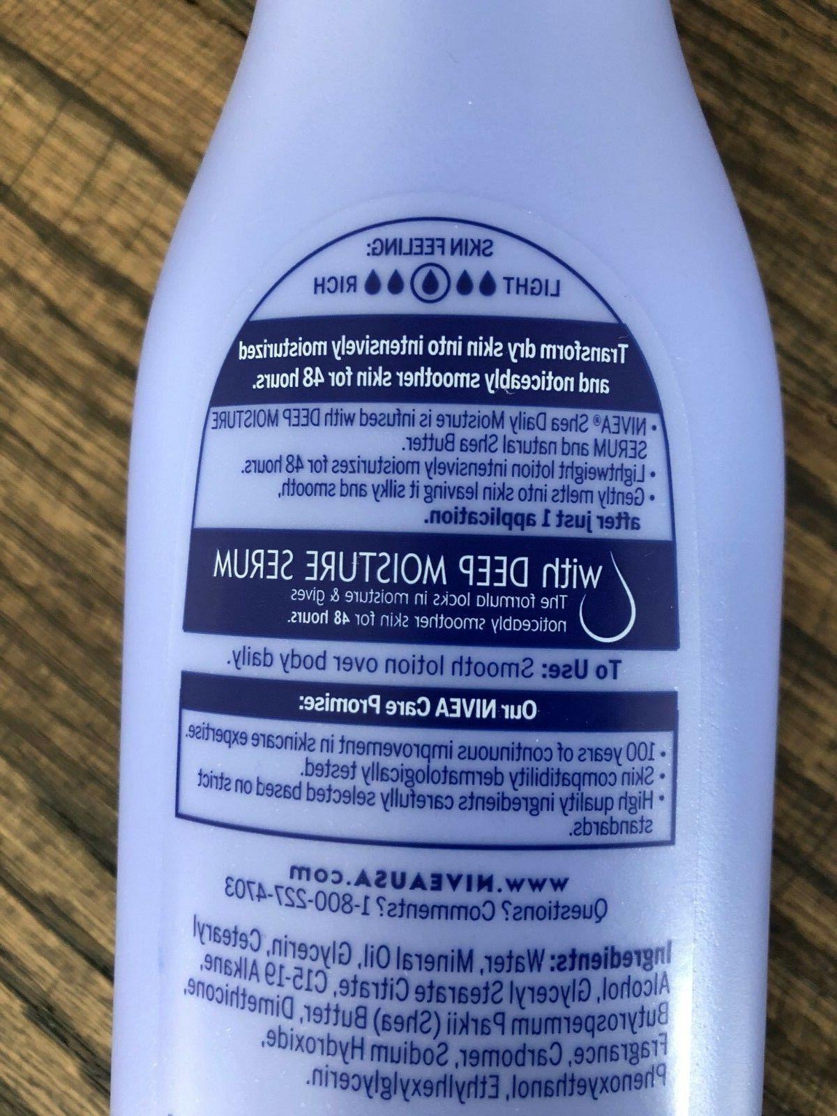 Nivea Body Lotion Deep Serum Shea Butter Skin 6.8 NEW