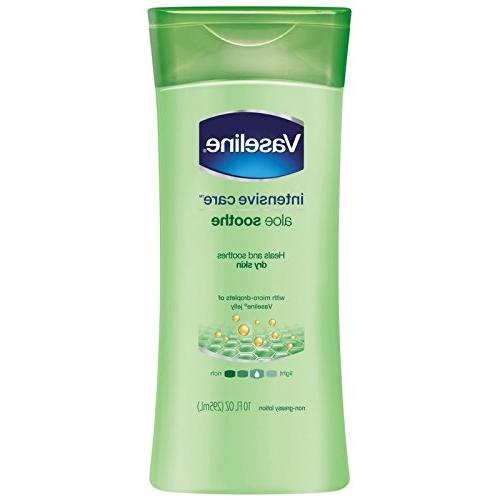 Vaseline Intensive Care Body Lotion, Aloe Soothe 10 oz