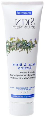 Skin By Ann Webb Unscented Face and Body Lotion, 8 Fluid Oun