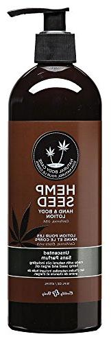 Earthly Body Hemp Seed Hand and Body Lotion, Unscented, 16 O
