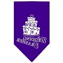 Wedding Crasher Screen Print Bandana Purple Large