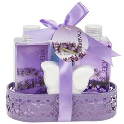 Bath and Body Beauty Gift Set for Women Lavender Essential o