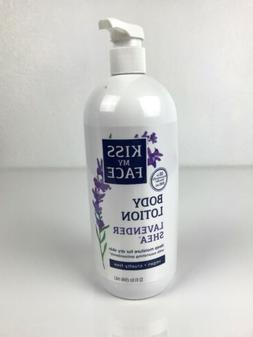 KISS MY FACE Lavender Shea Deep Moisture BODY LOTION 32 fl o