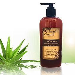 Organic Lemongrass Lotion w/Aloe Vera, Olive Oil, Coconut Oi