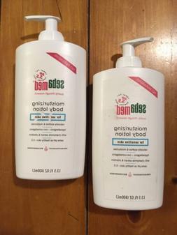 LOT 2 bottles SebaMed Moisturizing Body Lotion 13.5oz 400mL