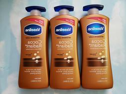LOT VASELINE INTENSIVE CARE COCOA RADIANT BODY LOTION 20.3 F