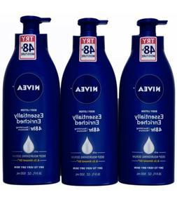 3 BIG  16.9oz NIVEA Essentially Enriched Body Lotion  Dry Sk