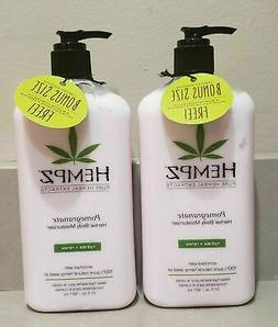 LOT OF 2 HEMPZ ORIGINAL HERBAL MOISTURIZER BODY LOTION 21 oz