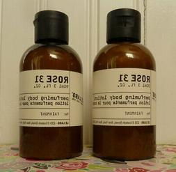 LOT OF 2 LE LABO ROSE 31 PERFUMING BODY LOTION 3 OZ X 2