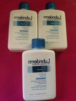 LOT OF 3--Lubriderm Daily Moisture Fragrance Free Lotion, Fo