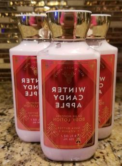 LOT OF 3 BATH AND BODY WORKS WINTER CANDY APPLE    BODY LOTI