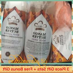Nubian Heritage - Lotion & Body Wash & Bar Soap 3pc Gift Set