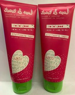 LOVE & TOAST - BODY LOTION - SUGAR GRAPEFRUIT - TWO 8 OZ BOT