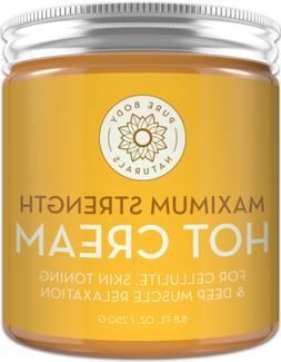 Pure Body Naturals Maximum Strength Hot Cream, 8.8 Ounces