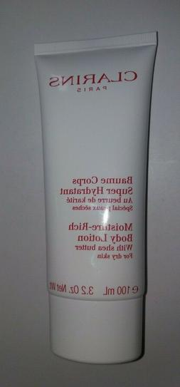 Clarins Moisture Rich Body Lotion for Dry Skin - 3.2 oz 100m