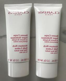 CLARINS moisture rich body lotion shea butter dry skin trave
