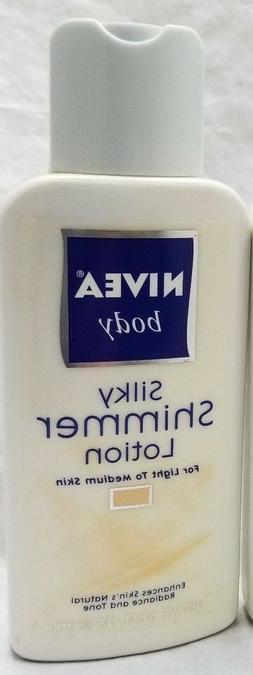 New Nivea Body Silky Shimmer Lotion 6.8oz for light to mediu