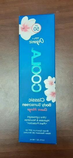 New COOLA Classic Body Organic Sunscreen Lotion SPF 50 5 Fl