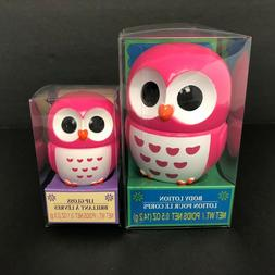 NEW Pink Owl Shea Butter Body Lotion & Moisturizing Lip Glos