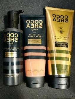 *NEW* Set of 3 ~COCOSHEA HONEY Bath & Body Works Body Scrub,