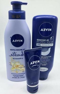 NIVEA OIL INFUSED LOTION VANILLA Almond oil & in-Shower Body