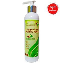 Natural Body Lotion for Very Dry Skin Vanilla - Vegan, Parab