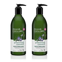 Avalon Organics Rejuvenating Rosemary Hand and Body Lotion w