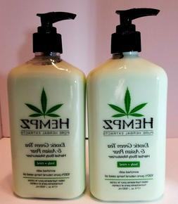 Pack of 2 -Hempz Pure Herbal Extract - EXOTIC GREEN TEA& ASI