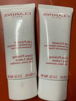 Set Of 2 Clarins Paris Extra Firming Body Lotion Lifts, Tone