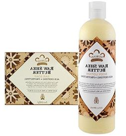 Nubian Heritage Raw Shea Butter Lotion - 13 Oz + 5oz Soap