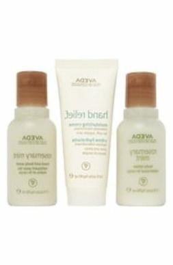 Aveda Rosemary Mint Set of 3 Hand & Body Wash, Body Lotion,